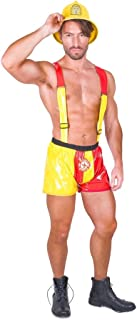 Hot Stuff Fireman Costume - for Halloween, Costume Party Accessory