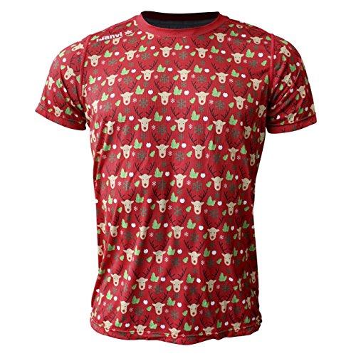 Luanvi Edición Limitada Camiseta técnica Renos, Hombre, Verde Oscuro, S (47-67cm)