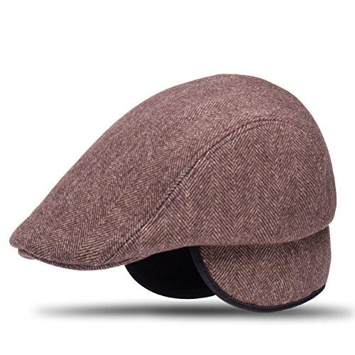 EASTVAPS Gorra de Boina Gorra Plana Orejeras Calientes Sombrero de Lana