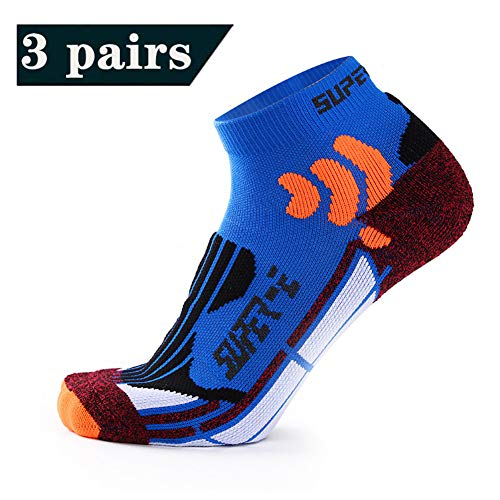 WYX 3 Paar Herren Sportsocken, Schnelltrocknende Socken Kurz Ventilation Outdoor Sports Basketball Run Männlich Badminton Socken,b,OneSize