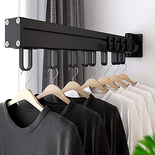 Robusto Secado RACJ, estante de secado de pared, suspensión de lavandería con ganchos, capacidad de carga de 60 libras, ahorro de espacio para percha, fácil de instalar, para balcón, lavandería, baño