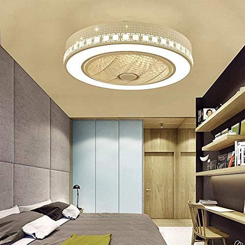 QTJ 72W LED Regulable Moderno Ventilador De Techo con Luz LED, Ventiladores De Techo,Ventilador Restaurante De Decoración De Iluminación del Dormitorio Cubierta (B)