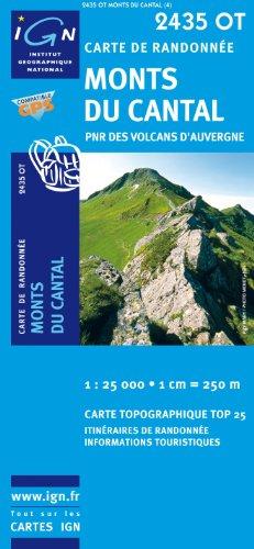 Top25 2435OT ~ Monts du Cantel Wanderkarte mit einem kostenlosen Maßstabslineal