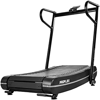 PROFLEX Freerun TRF3 Manual Passive Treadmill with Curved Belt, Black and Grey