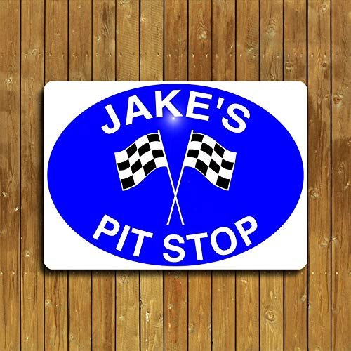 Gepersonaliseerd Aluminium Pit Stop Metalen bord. Perfect voor de Garage, Vintage Metalen borden Tin Plaque Wall Art Poster Voor Garage Man Cave Bier Cafe Bar Pub Club Patio Home Decor 12