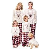 Homebaby Famiglia Pigiama di Natale Donna Mamma Santa Deer Top Camicetta Pantaloni Famiglia Pigiama Sleepwear Set da Natalizio
