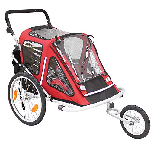 Red Loon Kinderanhänger RB10001 ALU-Light + Jogger für 2 Kinder Fahrradanhänger