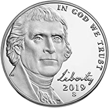 2019 S Proof Jefferson Nickel Choice Uncirculated US Mint