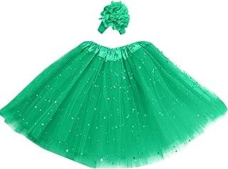 Innova/® Girl Kids Pettiskirt Tutu Fluffy Ballet Dance Party Fancy Skirt 0-9 Years Green