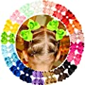 40 Pieces Hair Bows Clips Grosgrain Ribbon Boutique Hair Bow Alligator Clips For Girls Teens Toddlers Kids (20 Colors in Pairs)