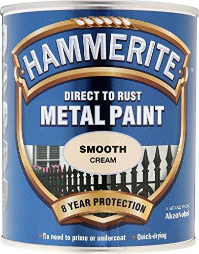 Hammerite Metal Paint Smooth 750ml Cream