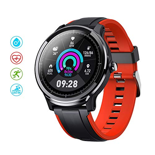 """Smart Watch for Android & iOS, Fitness Tracker Activity Tracker with 1.3"""" Full Touch Screen, Camera Music Control IP68 Waterproof,Step Counter Smartwatch,Ultra-Long Battery Life for Women Men"""