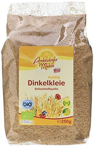 Antersdorfer Mühle Dinkelkleie Bioland/Biokreis, 6er Pack (6x 250 g)