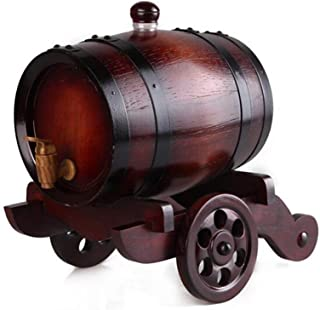 yunyu Vintage Baril de vin, Vintage chêne Baril vin Baril Distributeur bière Whisky Rhum Hommes et Femmes Cadeaux (vin Rouge)
