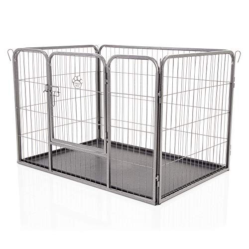 COZY PET Heavy Duty Puppy Playpen Medium Enclosure Dog Cage Dog Run or Crate Whelping Box with Heavy Duty...