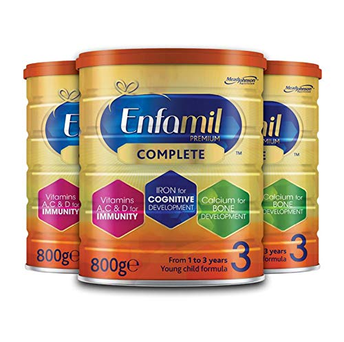 Enfamil Premium Complete Stage 3 Young Child Formula – Milk Powder for Children from 1 to 3 Years (800g 3 Pack)