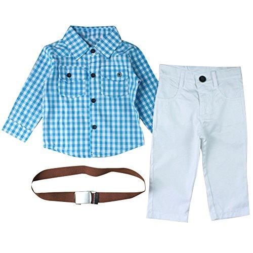CHIC-Salopette Pantalons Chemise Bébé Garçon Vintage Gentleman Déguisement (18-24Month)