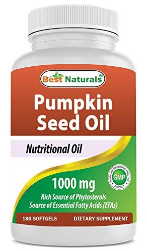 Best Naturals Pumpkin Seed Oil Bladder Control 1000 mg 180 Softgels