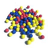 100pcs Rival Refill Replace Round balls Foam Bullet Balls Pack for Children Kids Toy Guns. (mix color)