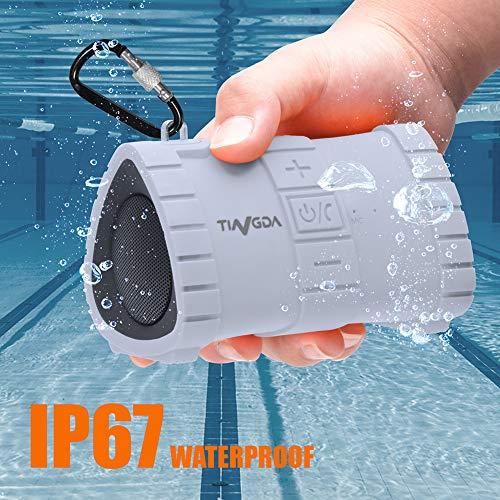 Tingda Bluetooth Lautsprecher, IP67 wasserdichter Lautsprech