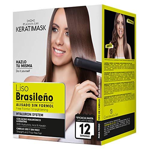 Be Natural Kit de Alisado Brasileño con Keratina, Verde