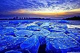1000 rompecabezas para niños y adultos blue ice dawn Un giro brusco del cerebro, juegos desafiantes, juguetes coloridos
