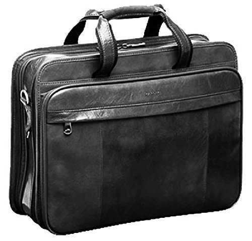 Mancini Leather Goods Wheeled Laptop Catalog Case 90469 Burg