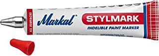Markal–Tube White to mark with a ball tip and Paint Permanent (Pack of 10)