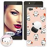mtb more energy® Schutz-Hülle Squishy 3D für Huawei P8 Lite (ALE-L21 / 5.0'') - Panda - TPU Case Cover Tasche