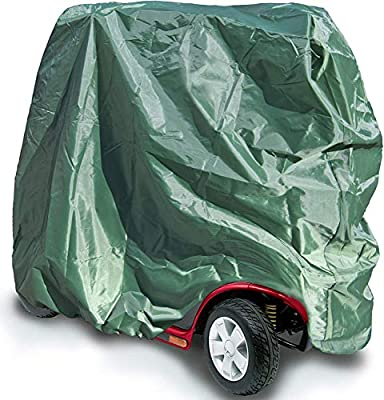 SpeedwellStar Mobility Scooter Cover Wheelchair Waterproof 120 Denier Disability Storage Protection Green Breathable Large