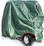 Grande Movilidad Ruedas Scooter Funda Almacenamiento Resistente Agua 147 x 71 x 140 cm, Cubierta de almacenamiento scooter, Cubierta motocicleta para silla de ruedas al aire libre, Protector de polvo de lluvia impermeable tela nylon Verde