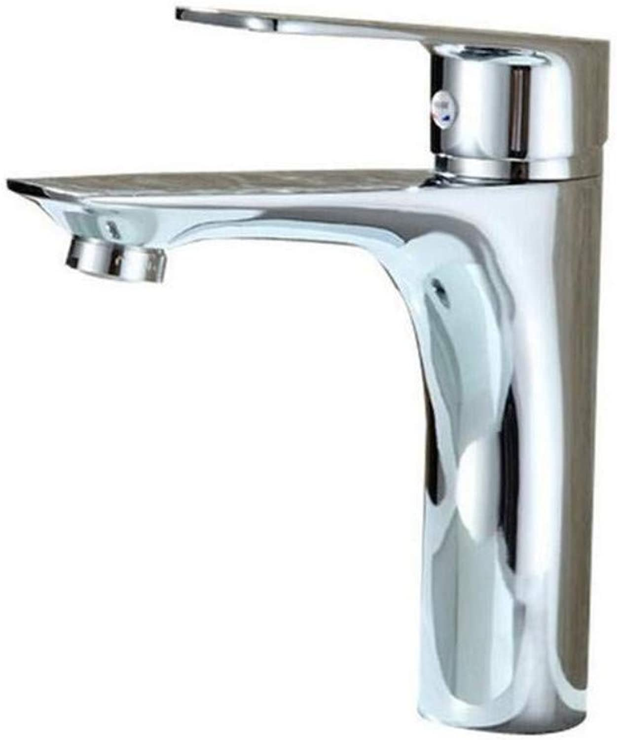 Chrome-Plated Adjustable Temperature-Sensitive Led Faucethot and Cold Faucet Basin Faucet Washbasin Faucet