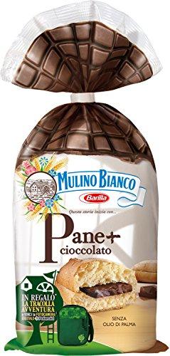 Mulino Bianco Merendine Pane + Cioccolato al Latte, Snack Dolce per la Merenda, senza Olio di Palma - 300 g