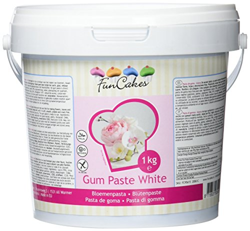 FunCakes Gum Paste / Blütenpaste Weiß -1kg-
