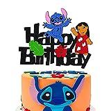Cartoon Cake Topper for Lilo-Stitch Theme Cake...