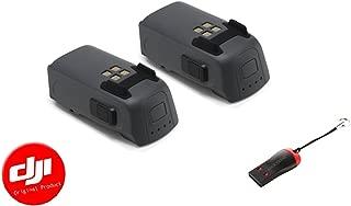 DJI Spark Intelligent Battery 2 Pack with Luckybird USB Reader, Black (CP.PT.000789)