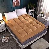 KMatratze Colchoneta de Tatami de Tatami de Tatami, sin Deslizamiento, colchón Dormitorio, colchón, colchones para futones de Piso, colchón Tatami Topper (Color : Camel, Size : 150 * 200cm)