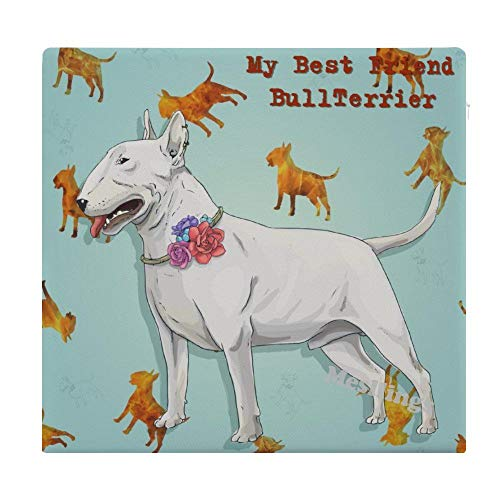 "My Best Friend Bullterrier Home Printed Fashion Square Comfortable Seat Cushions Chair Pads Office Soft Cushion - 15"" x 14"""