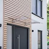Schulte V1110-20-20 Sunny 1 Vordach, edelstahl matt gebürstet, 140 x 90 cm