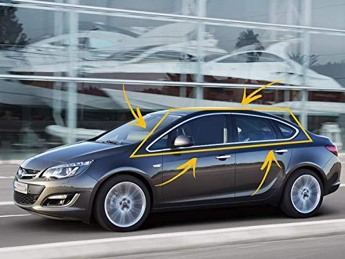 Embellecedor de marco de ventana de acero inoxidable cromado para Opel Astra J 2010-2014, 12 unidades