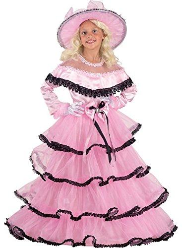 Saloonladykostüm Südstaatenlady Kostüm Edles Kinderkostüm, Größe:152