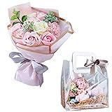 母の日 ソープフラワー 【大切な人に想いを伝える】Groovy ギフト 花束 花瓶 ボックス 誕生日 プレゼント 花 枯れない花 メッセージカード付 (ピンク) 樅