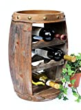 DanDiBo Weinregal Holz Klein Weinfass 1555 Flaschenständer Flaschenregal 50 cm Regal Fass Holzfass