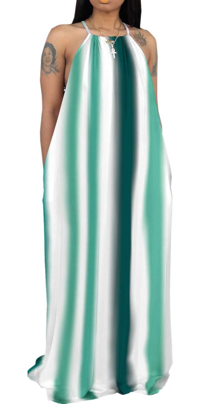 Available at Amazon: Women's Sexy Sleeveless Spaghetti Strap Dresses Casual Loose Sundress Floor Length with Pockets
