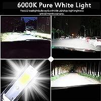 2ピースカートンスーパーブライトカーヘッドライト球根H7 LED H9 HB3 9005 HB4 9006 H11 H8 LEDヘッドライト100W 20000LM 6000K 12V 8000Kランプ (Emitting Color : 6500K White Light, Socket Type : H11)