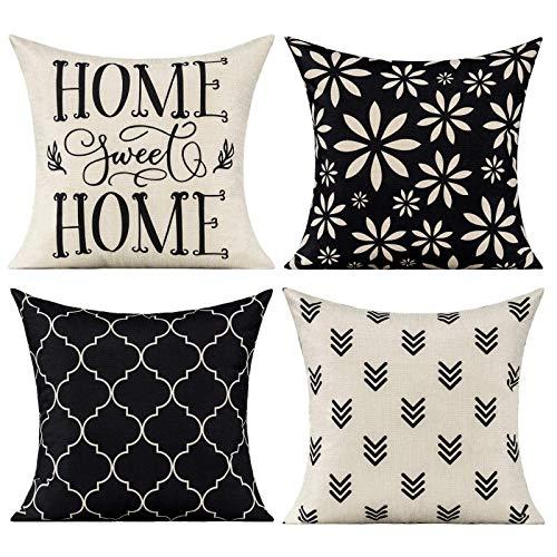 VAKADO - Set di 4 federe decorative per cuscini con motivo geometrico e moderno, per casa, per esterni, per divano, veranda, veranda, veranda, 40 x 40 cm