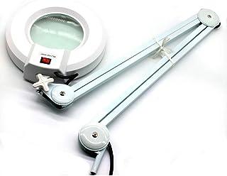 Lámpara con lupa de 36 LED, luz fría, brazos ajustables con articulaciones, lámpara de mesa con lupa de 18 W