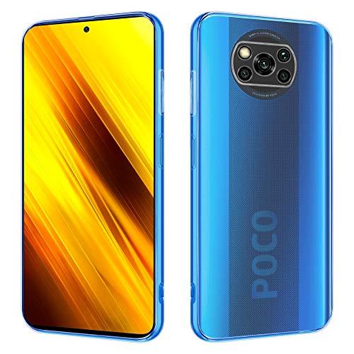 HSP Transparente Hülle kompatibel mit Xiaomi Poco X3 NFC / X3 Pro   Premium TPU Silikon Hülle   Kratzfest Stoßfest Klar   Microdot Handyhülle   Passexakte, weiche, transparente Schutzhülle