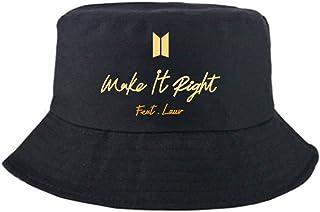 Gorra de pescador de BTS con letras impresas para hombres y mujeres, diseño de letra, para exteriores