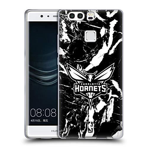 Head Case Designs Ufficiale NBA Marmoreo 2019/20 Charlotte Hornets Cover in Morbido Gel Compatibile con Huawei P9 Plus